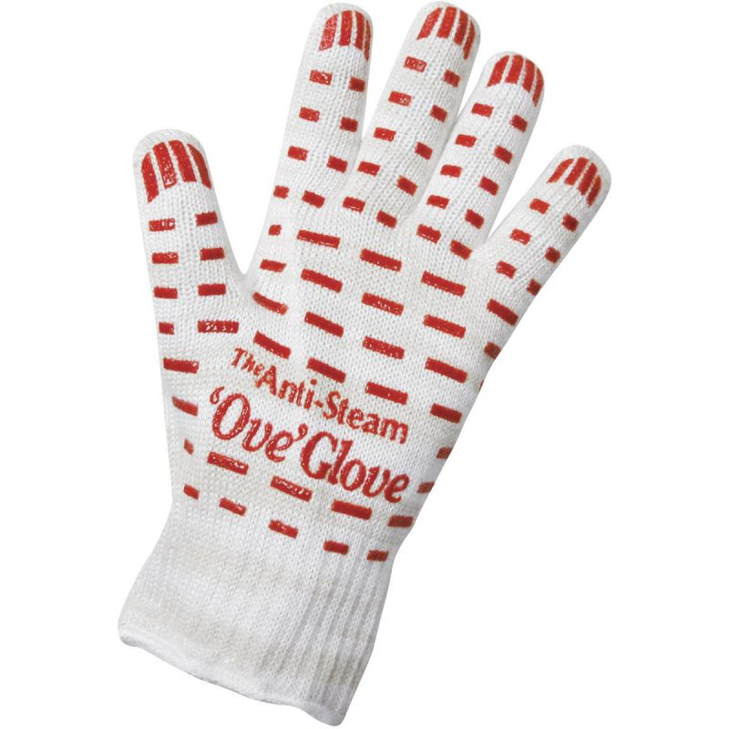 Ove Glove Anti-Steam Oven Mitt One Size Fits Most, Red