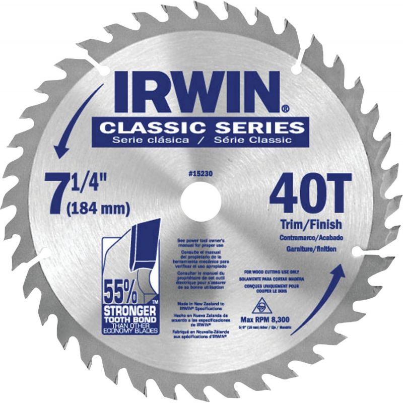 Irwin Classic Series Circular Saw Blade (Pack of 25)