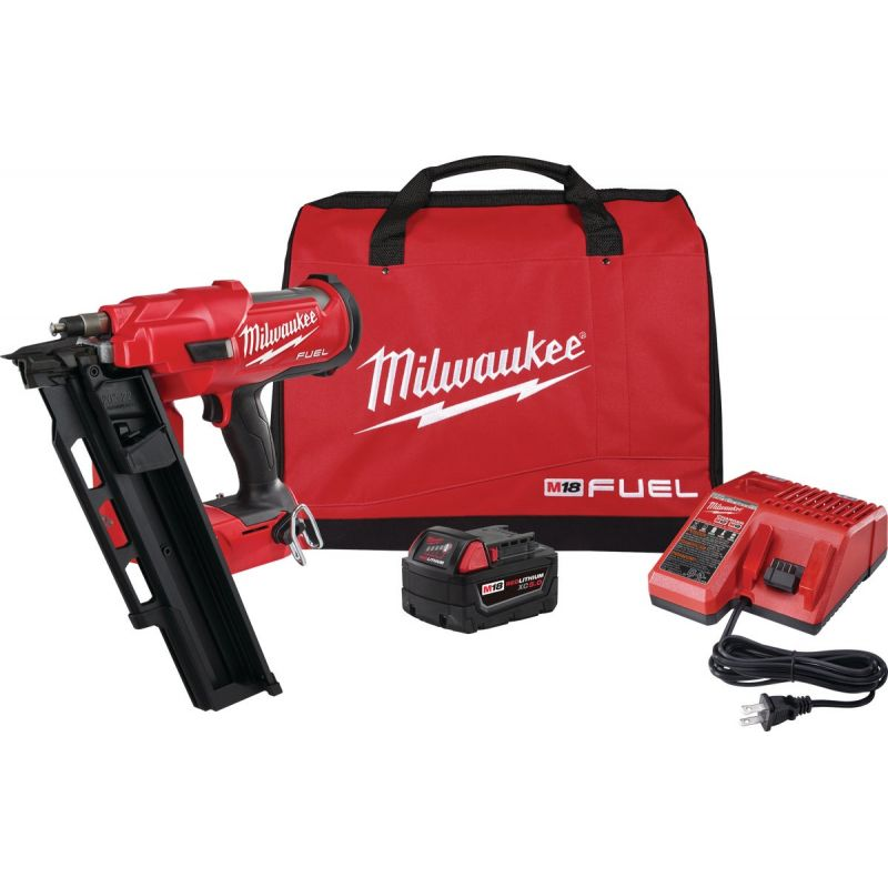 Milwaukee M18 FUEL Lithium-Ion Brushless 21 Degree Framing Nailer Kit