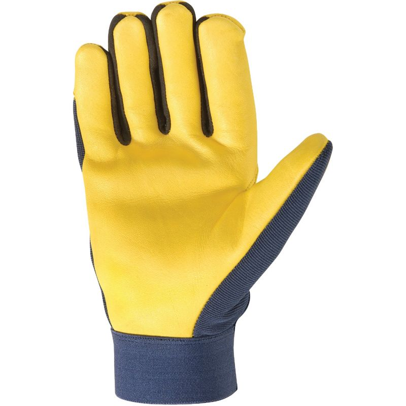 Wells Lamont HydraHyde Adjustable Wrist Work Glove XL, Saddletan & Blue