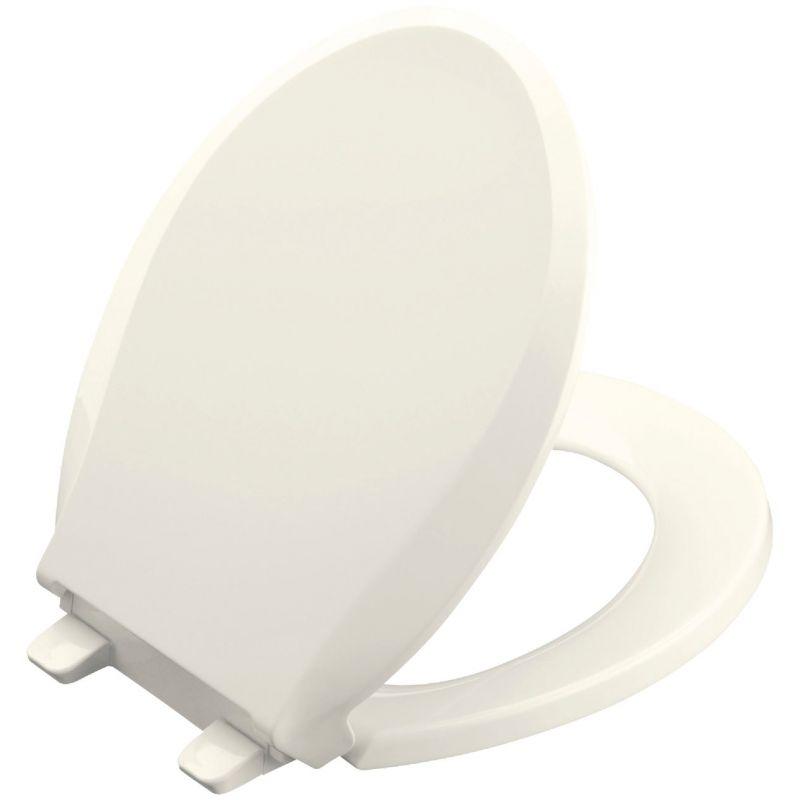 Kohler Cachet Quiet-Close Toilet Seat w/Grip-Tight Biscuit, Round