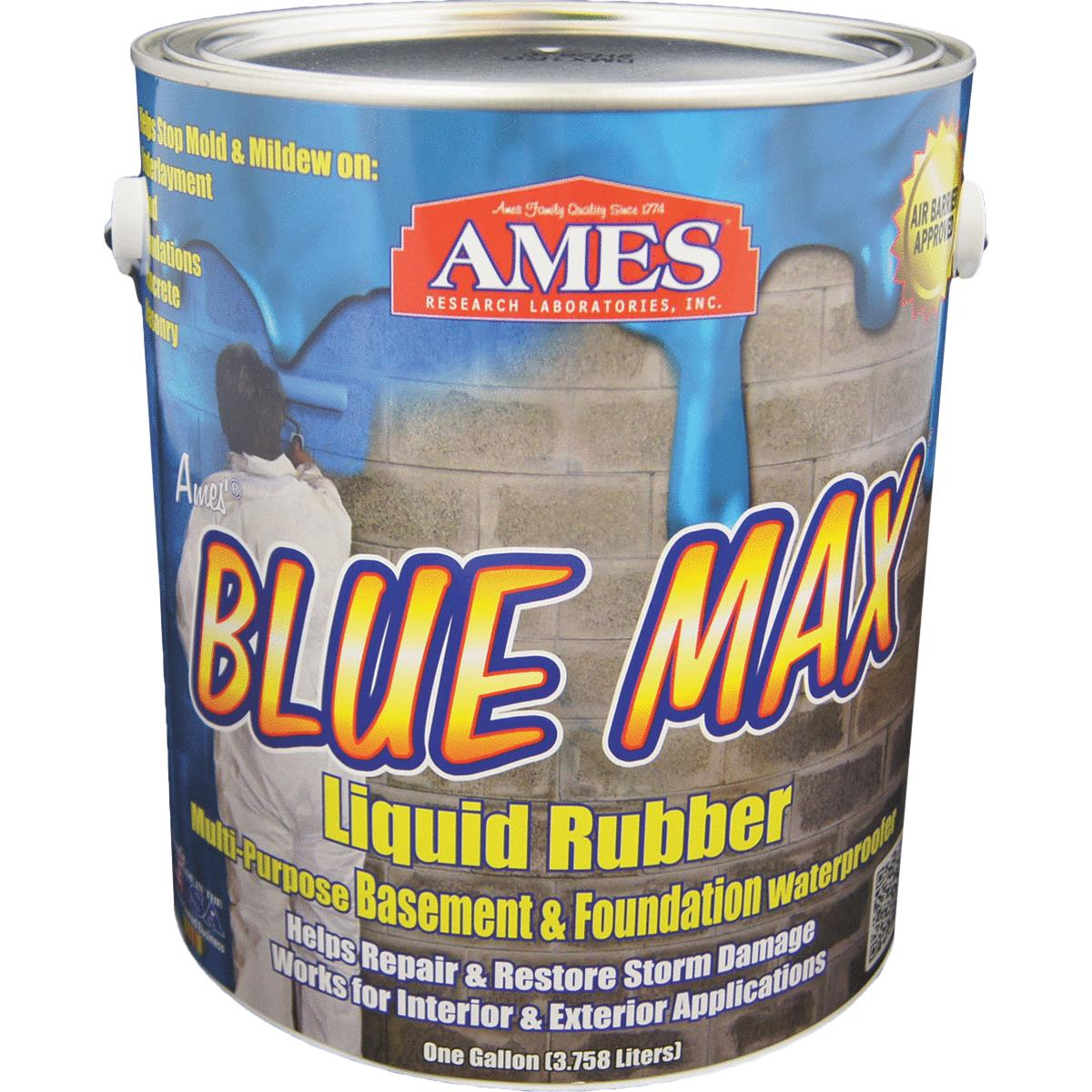 Ames Blue Max Liquid Rubber Membrane Waterproofing Coating 1 Gal , Blue
