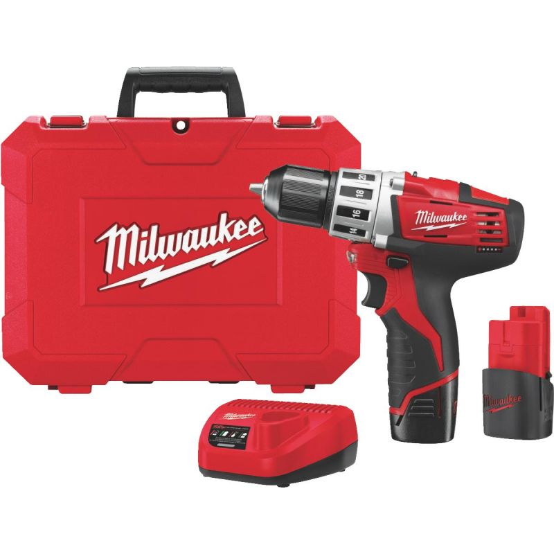 Milwaukee M12 Lithium-Ion Cordless Drill Kit