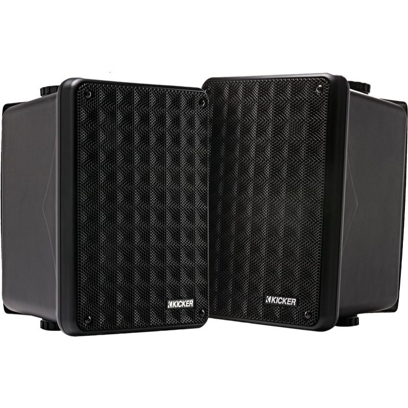 Kicker KB6000 Full Range Outdoor Speaker 8-1/8 In. W. X 11 In. H. X 8-1/8 In. D., Black