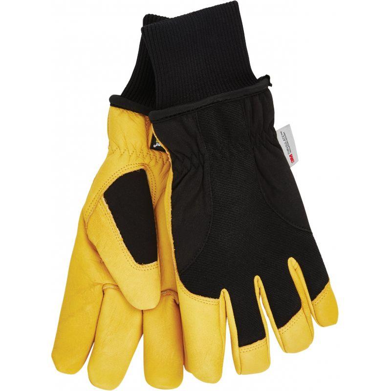 Wells Lamont HydraHyde Goatskin Men's Winter Work Gloves 2XL, Black & Tan
