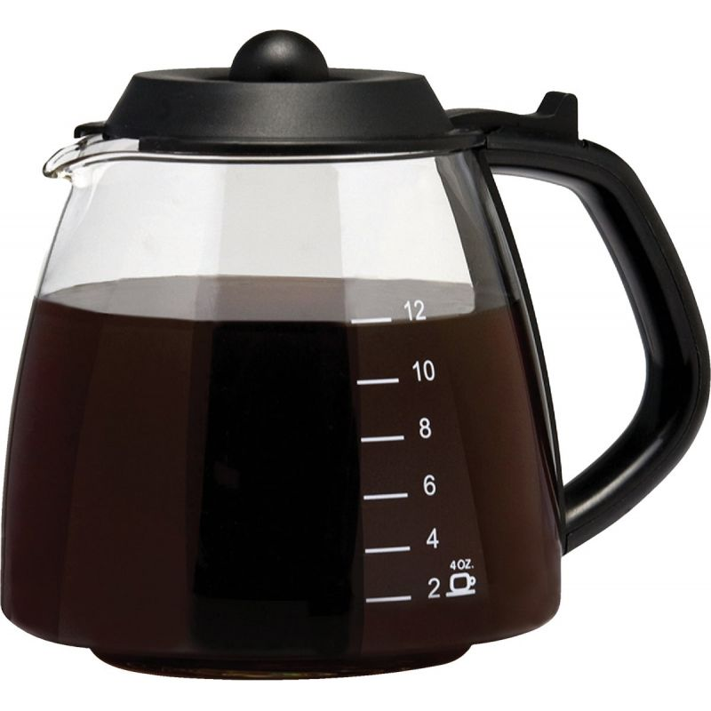 Medelco Millennium Universal Replacement Coffee Decanter 12 Cup, Black