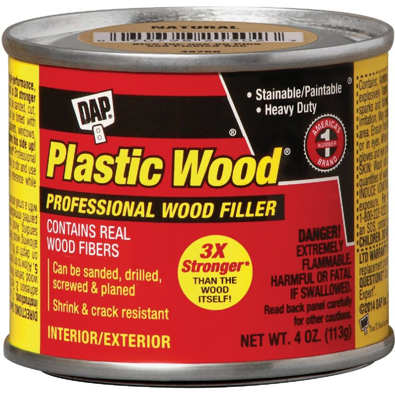 Dap Plastic Wood Professional Wood Filler 4 Oz., Walnut