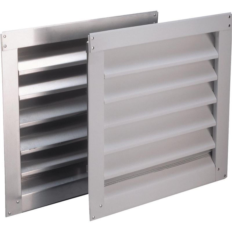 Air Vent Aluminum Wall End Louver White (Pack of 6)