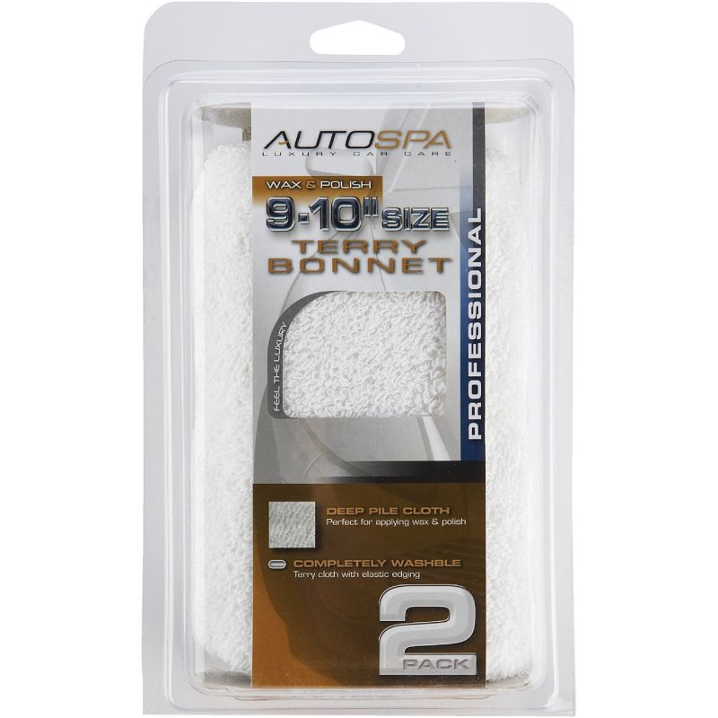 """Auto Spa Cotton Terry Waxing And Polishing Bonnet 9"""" To 10"""""""