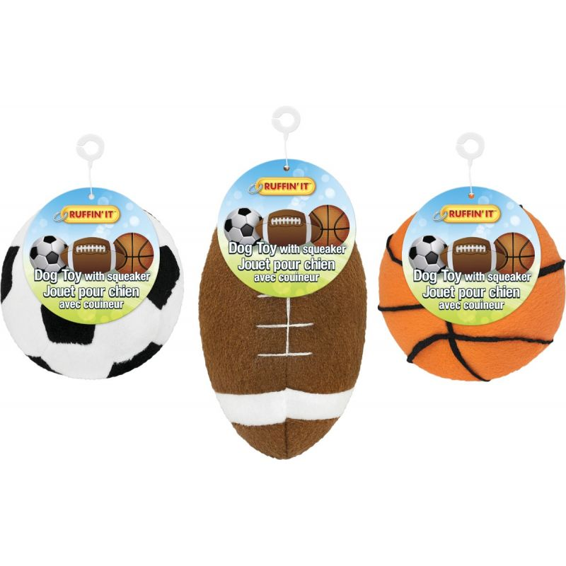 Westminster Pet Ruffin' it Sports Ball Dog Toy 2.5 In., Assorted