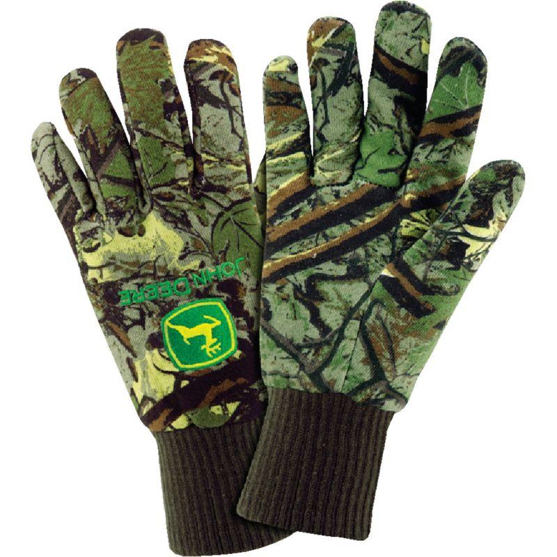 West Chester John Deere Fleece Lined Jersey Winter Glove L, Camouflage