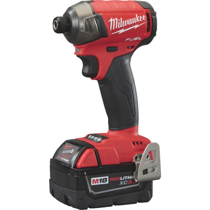 Milwaukee M18 FUEL SURGE Lithium-Ion Brushless Cordless Impact Driver Kit 1/4 In. Hex