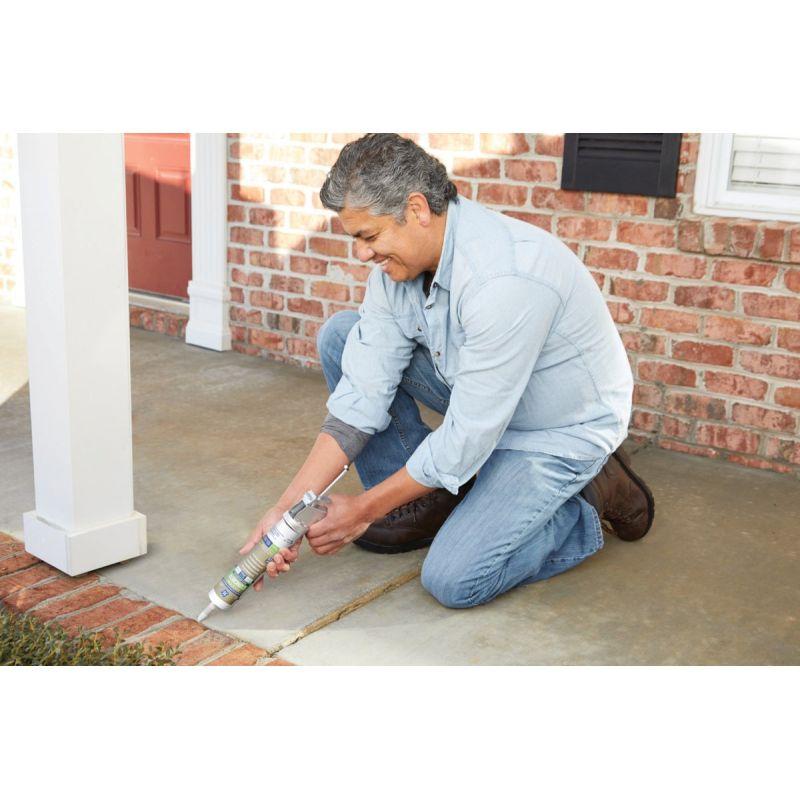 GE Silicone 2+ Specialty Concrete Silicone Sealant 10.1 Oz., Gray