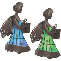 Garden Meadow Solar Lighted Metal Fairy Lawn Ornament