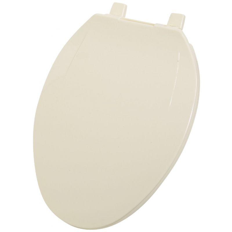 Home Impressions Elongated Plastic Toilet Seat Bone, Elongated