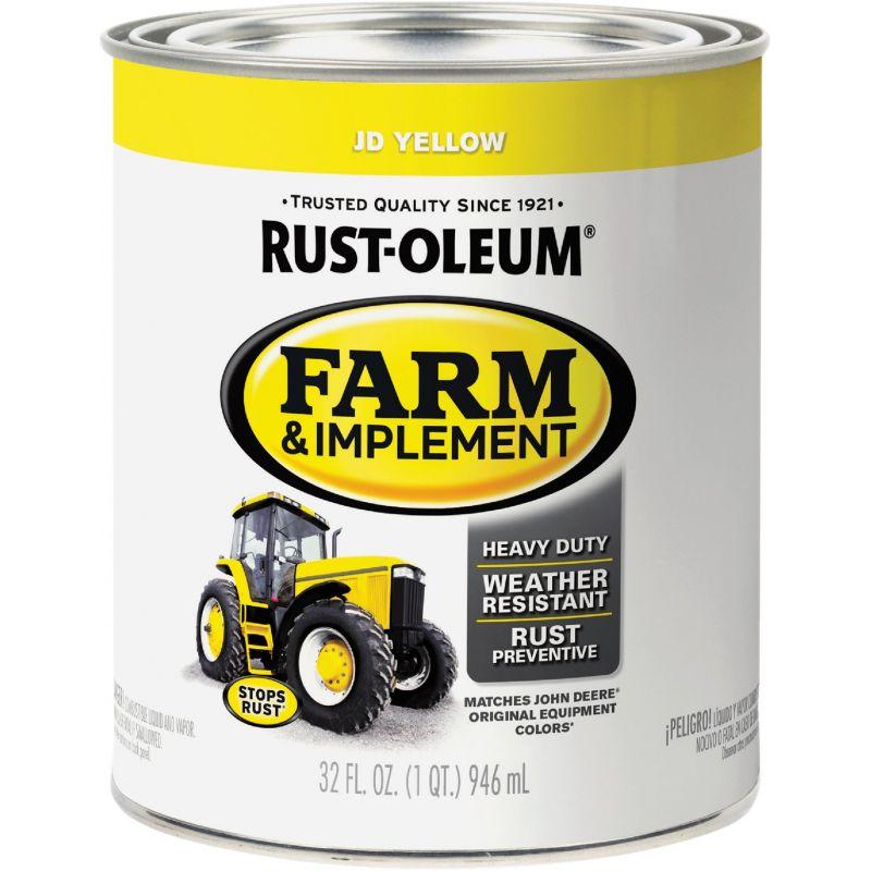 Rust-Oleum Farm & Implement Enamel Quart, JD Yellow