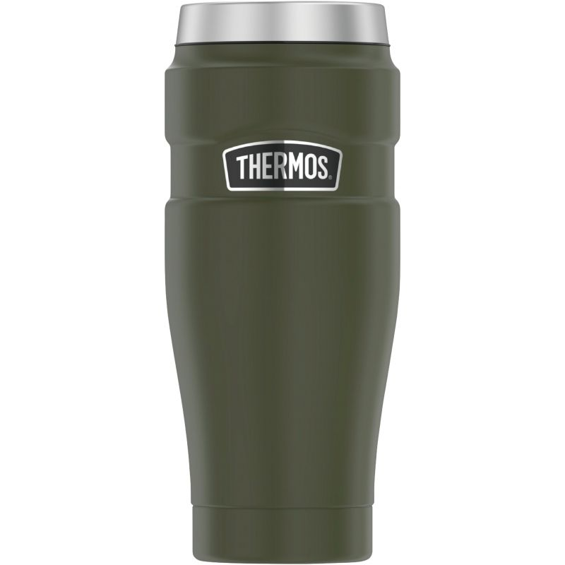 Thermos Stainless King Insulated Travel Tumbler 16 Oz., Army Green