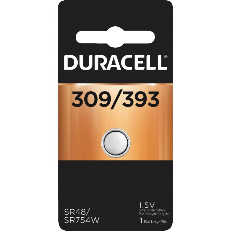 Duracell 309/393 Silver Oxide Button Cell Battery 80 MAh