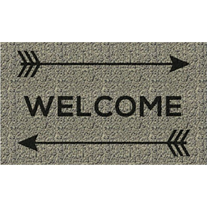 Americo Home Front Runner Door Mat 18 In. X 30 In., Tan, Welcome