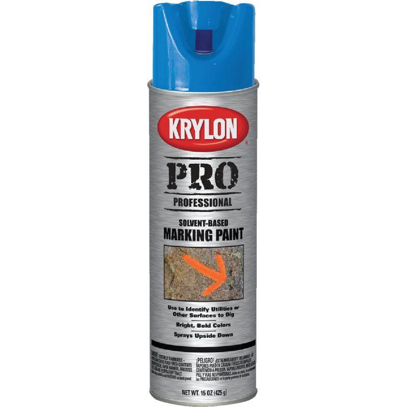 Krylon Inverted Marking Spray Paint 15 Oz., APWA Blue