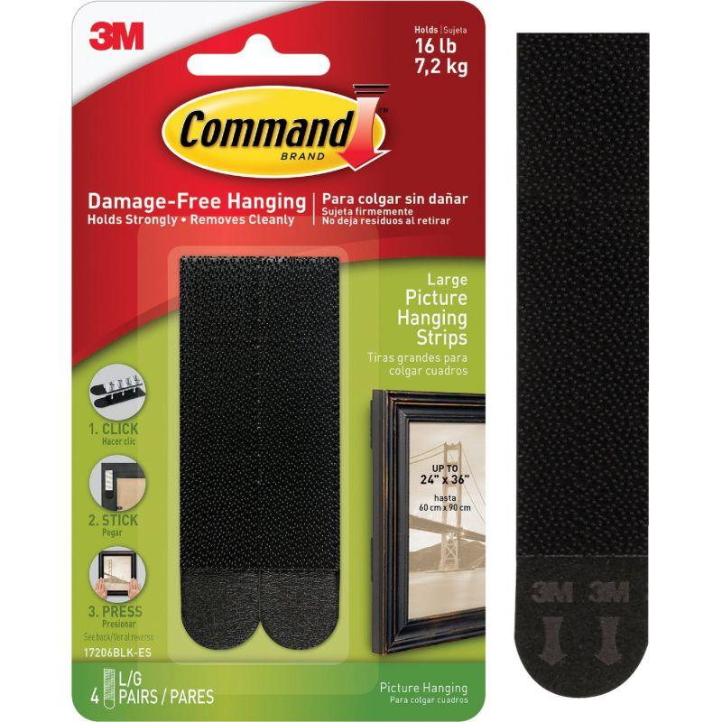 Command Interlocking Picture Hanger Black
