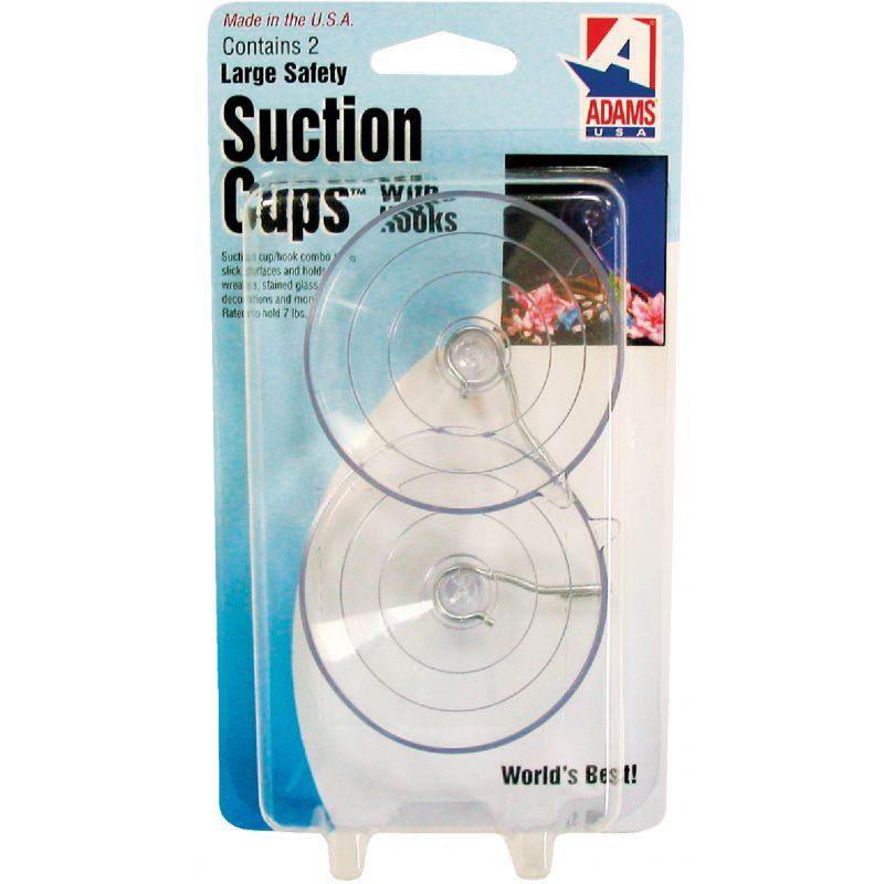 Adams Suction Cup With Metal Hook 2-1/2 In., Clear