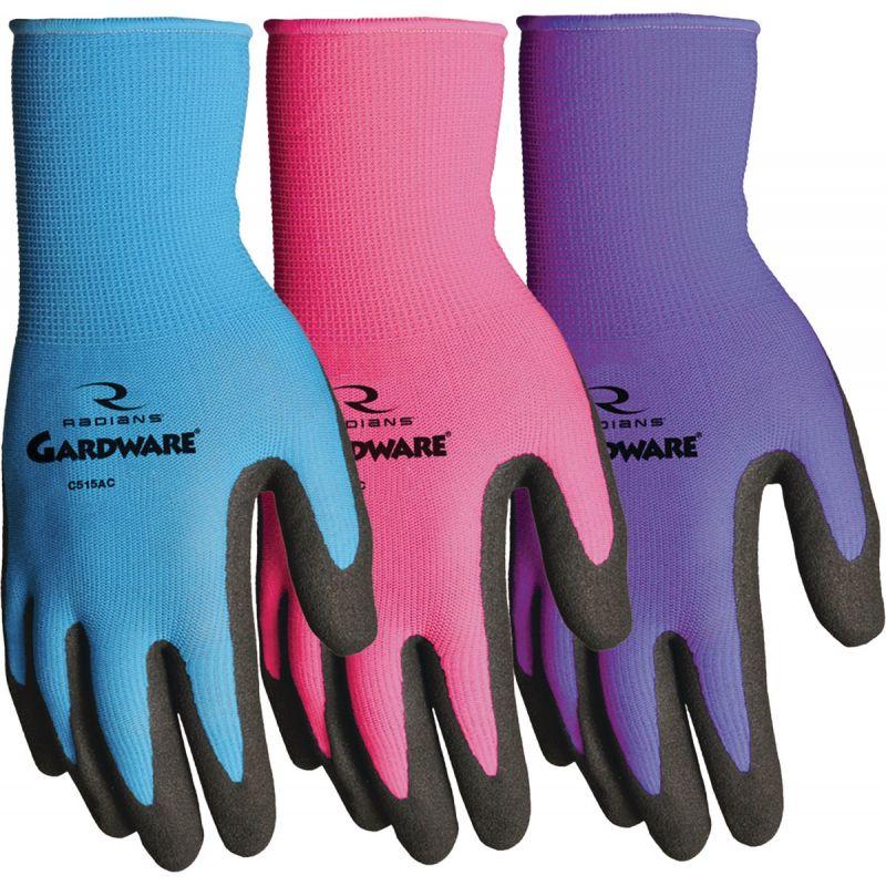 GardWare Breathable Nitrile Palm Garden Glove L, Assorted