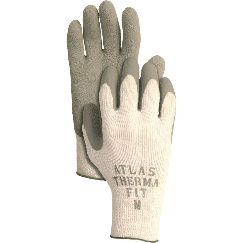 Atlas Therma-Fit Latex-Dipped Knit Winter Glove M, White & Green
