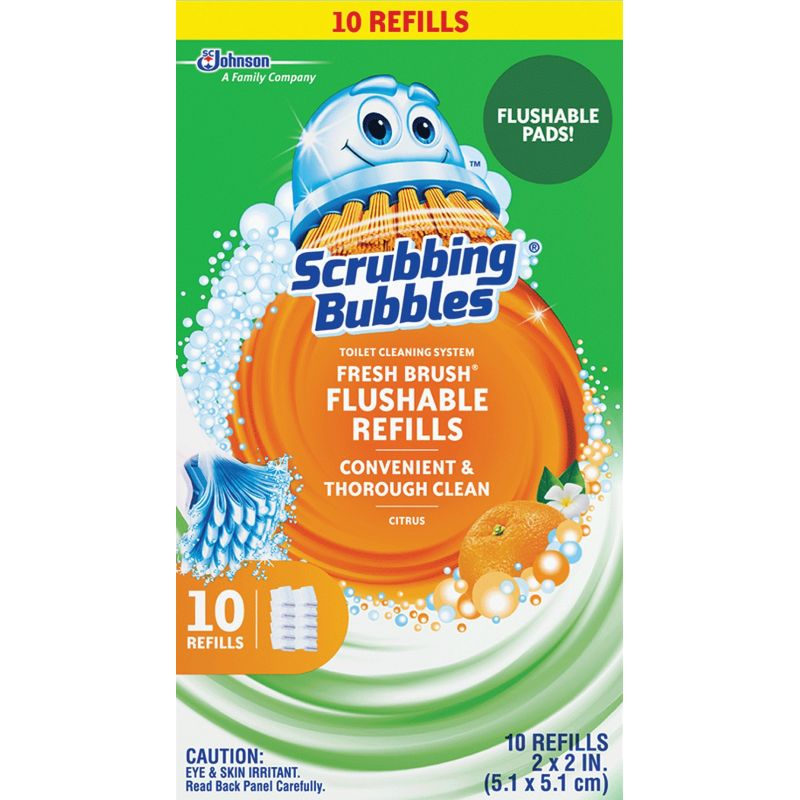 Scrubbing Bubbles Fresh Brush Toilet Wand Refill
