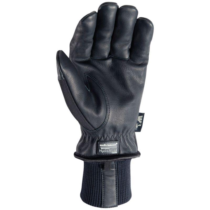 Wells Lamont HydraHyde Goatskin Men's Winter Work Gloves L, Black