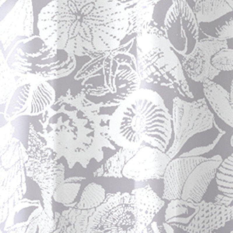 Zenith Zenna Home Shower Curtain Set White/Gray
