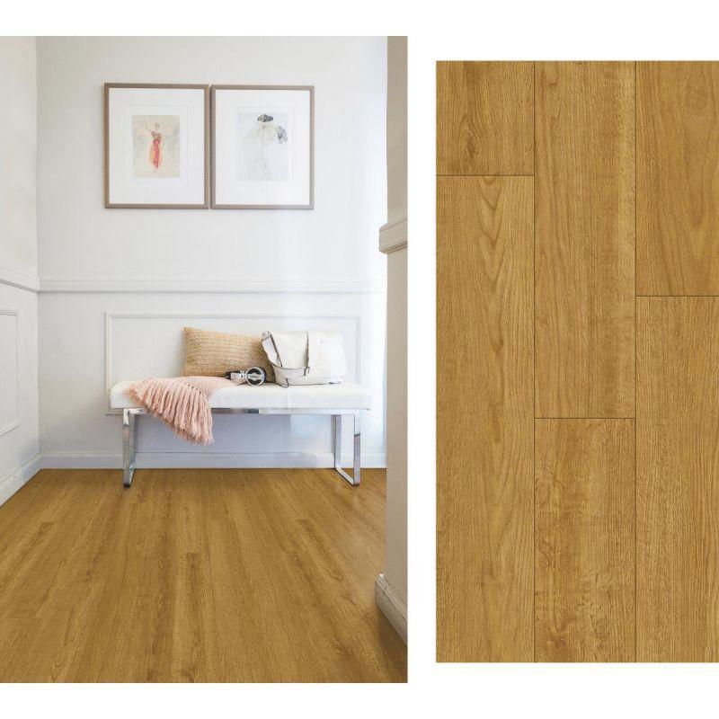 Mohawk Daventry Luxury Vinyl Rigid Core Floor Plank Harvest Teak, Daventry