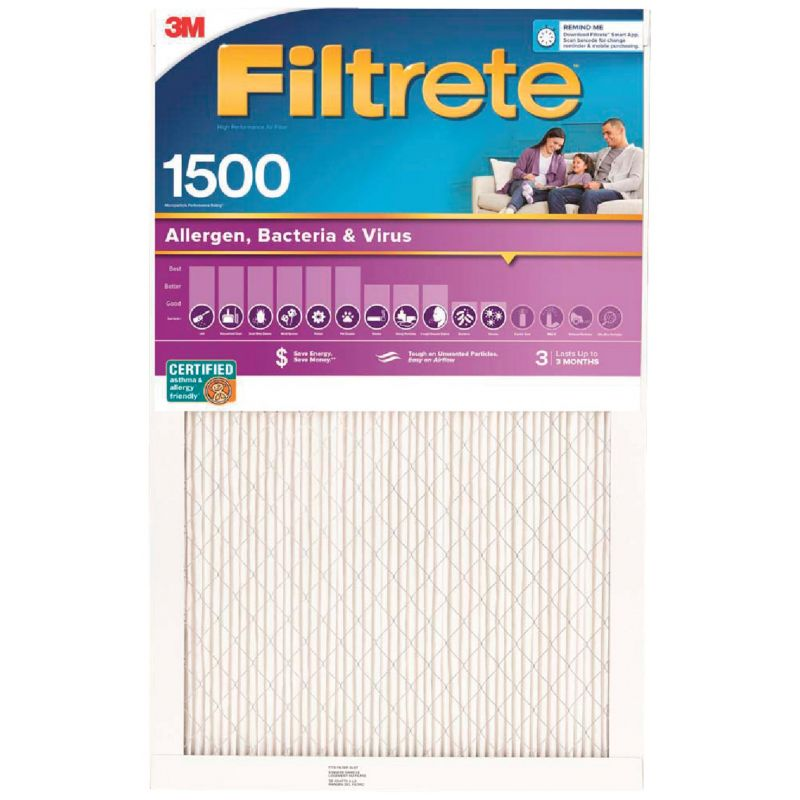 3M Filtrete Ultra Allergen Healthy Living Furnace Filter 14 In. X 30 In. X 1 In.