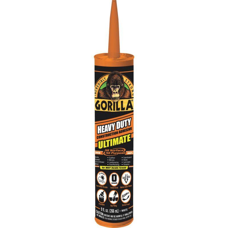 Gorilla Heavy Duty Construction Adhesive Ultimate 9 Oz., White