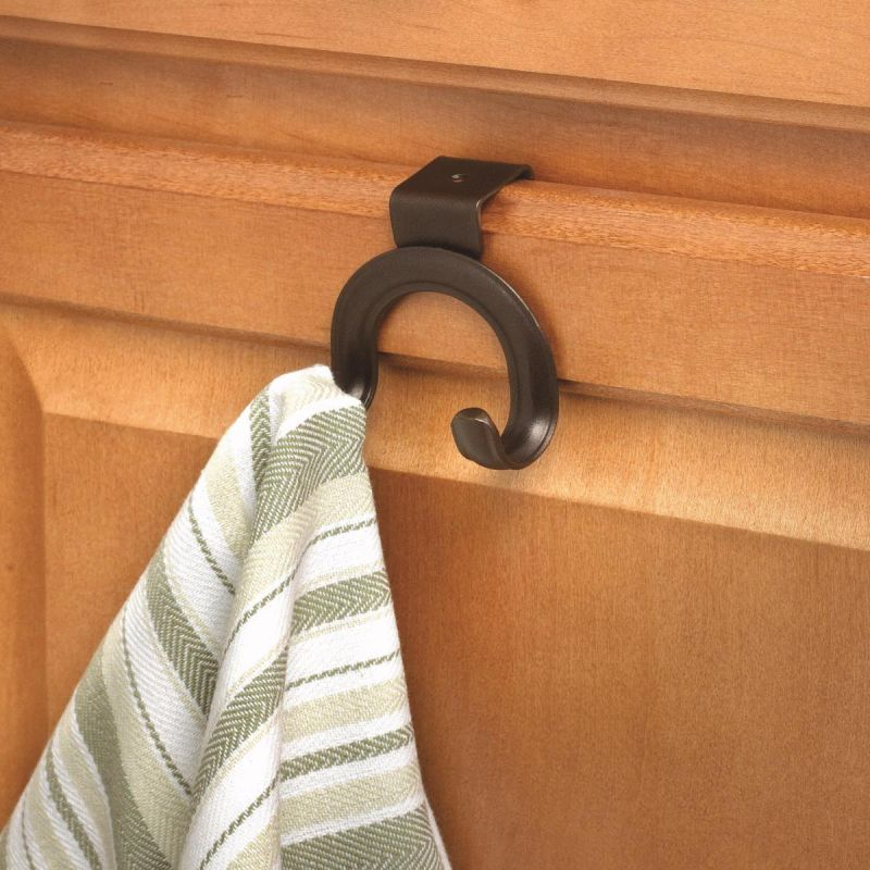 "Over The Cabinet Double Hook 2-3/4"" H X 2-1/2"" W X 2"" D"