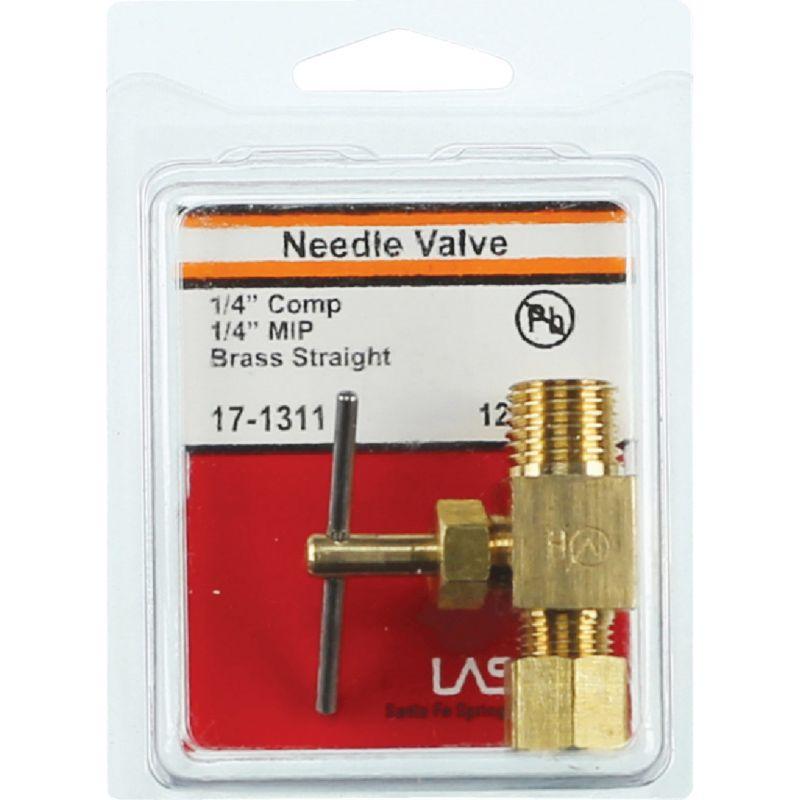 """Lasco Straight Needle Valve 1/4"""" C X 1/4"""" MIP"""