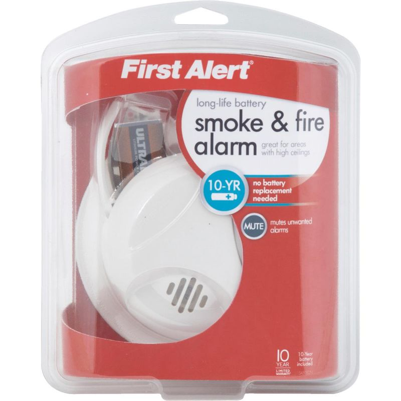 Buy First Alert Long Life Battery Smoke Alarm White