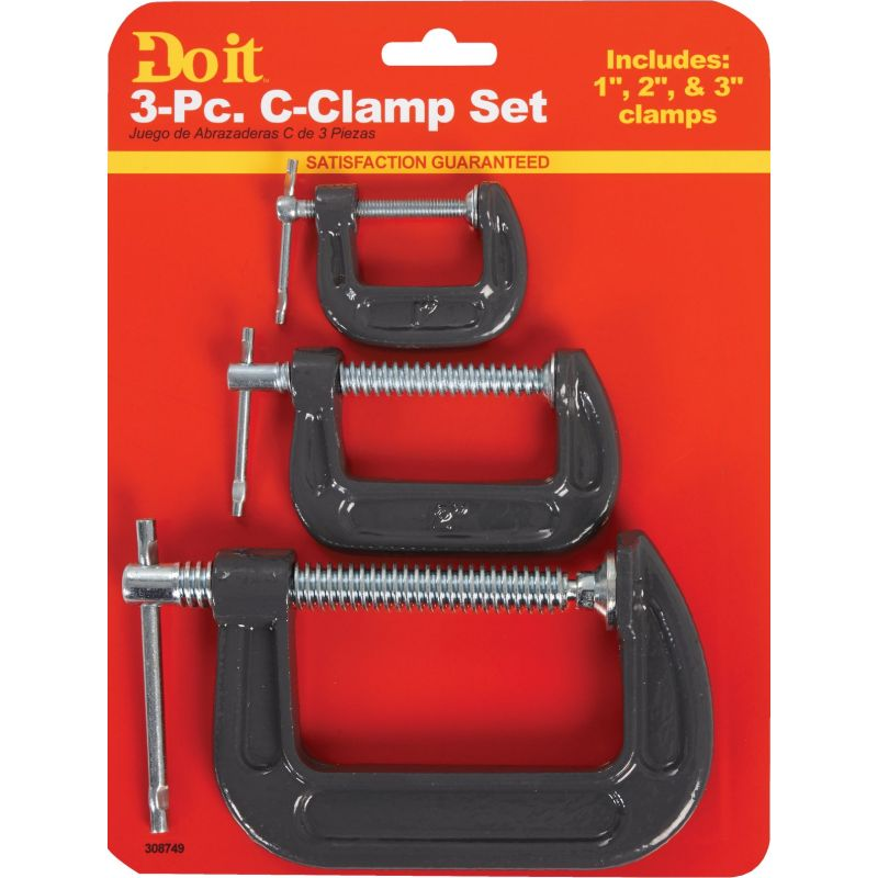 "Do it C-Clamp Set Assorted - 1"",2"", 3"""