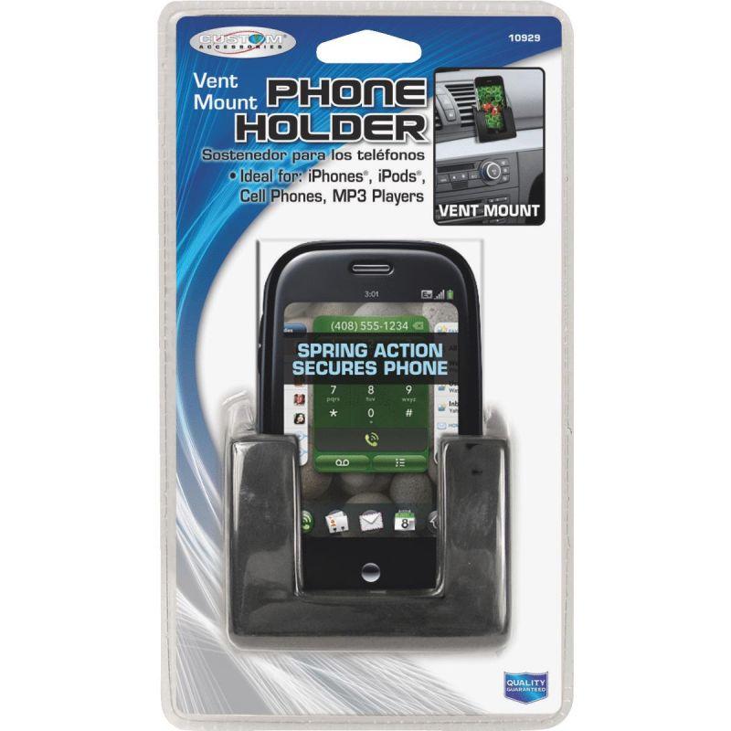 "Custom Accessories Cell Phone Holder 2.75"" W X 1.75"" H X 2.75"" L, Black"