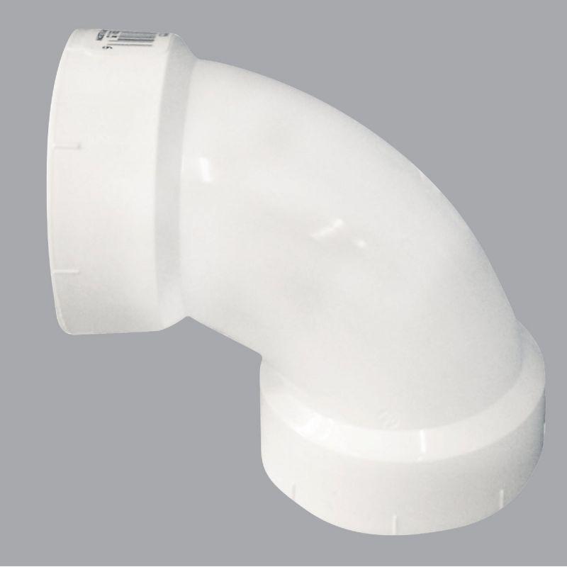 Charlotte Pipe 90 Deg. Schedule 40 Sanitary PVC Elbow 4 In. Hub X Hub