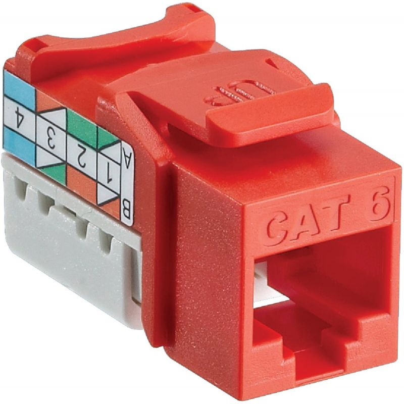 Leviton Cat-6 Connector Jack Orange