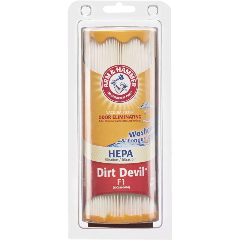 Arm & Hammer Dirt Devil F1 HEPA Vacuum Filter 3-1/4 In Bottom Dia X 2-3/4 In Top Dia