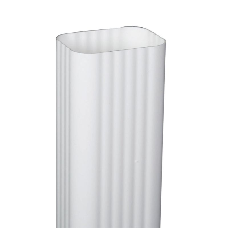 Amerimax Traditional K-Style Vinyl Downspout White