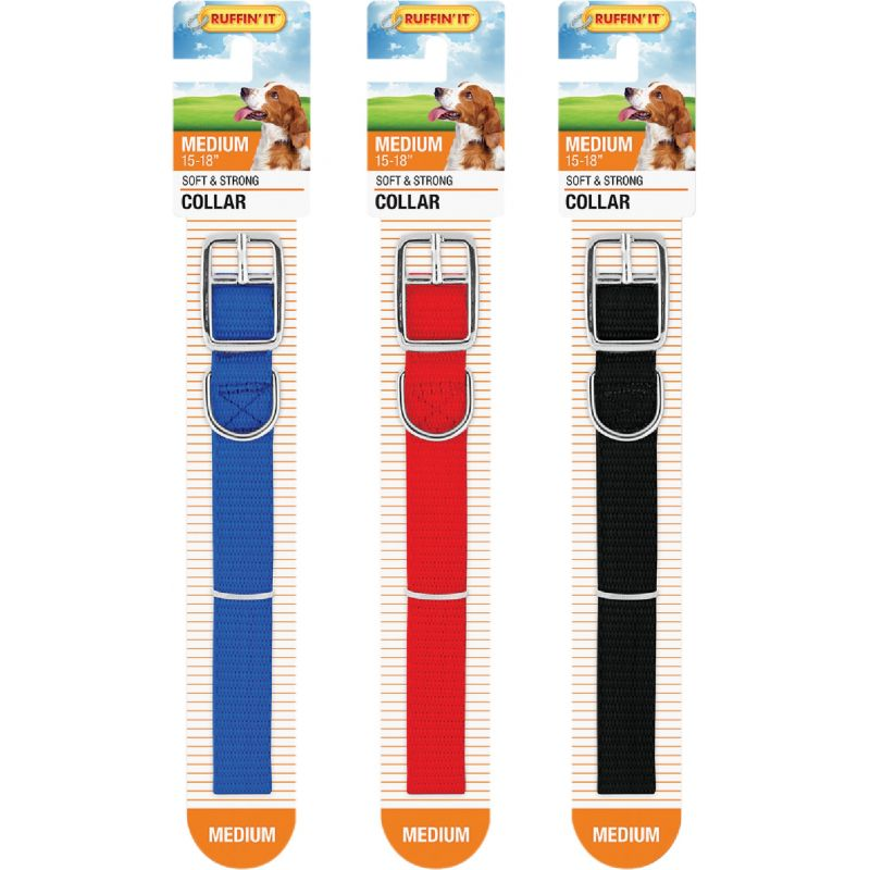 Westminster Pet Ruffin' it Nylon Dog Collar Black/Red/Blue