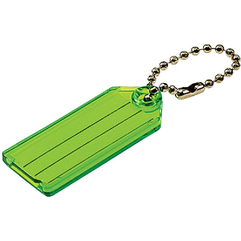 I.D. Key Tag With Chain 6 Assorted