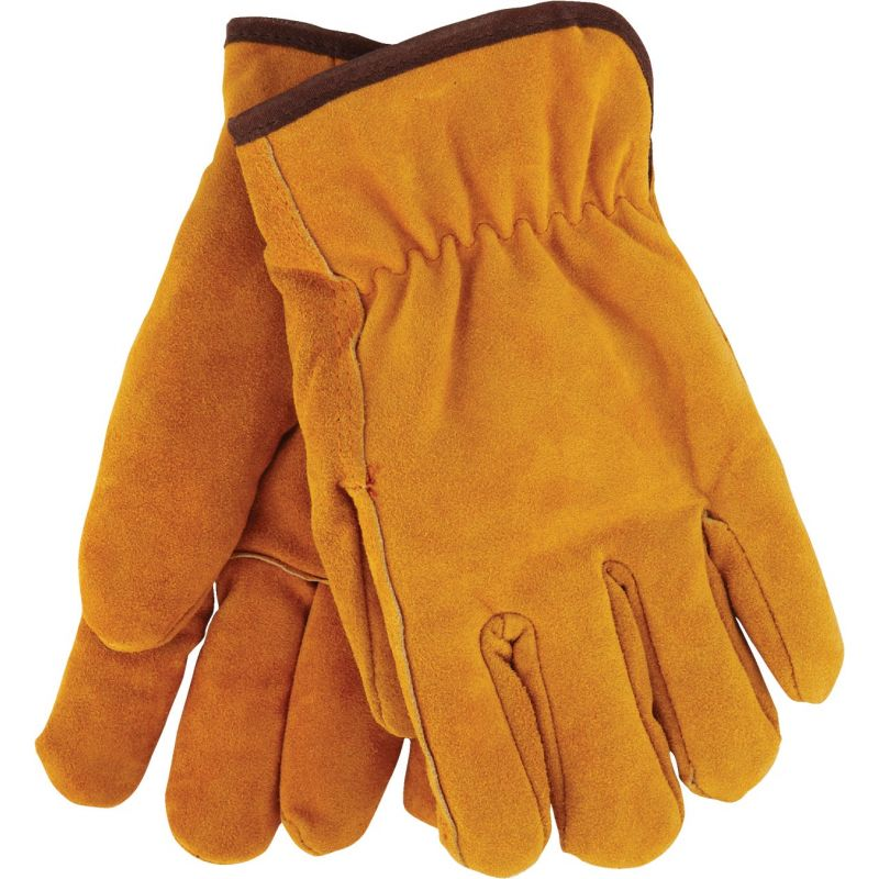 Do it Lined Leather Winter Work Glove L, Tan