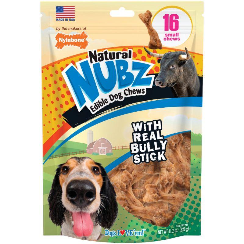 Nylabone Natural Nubz Bully Stick Dog Treat Chew 16-Pack