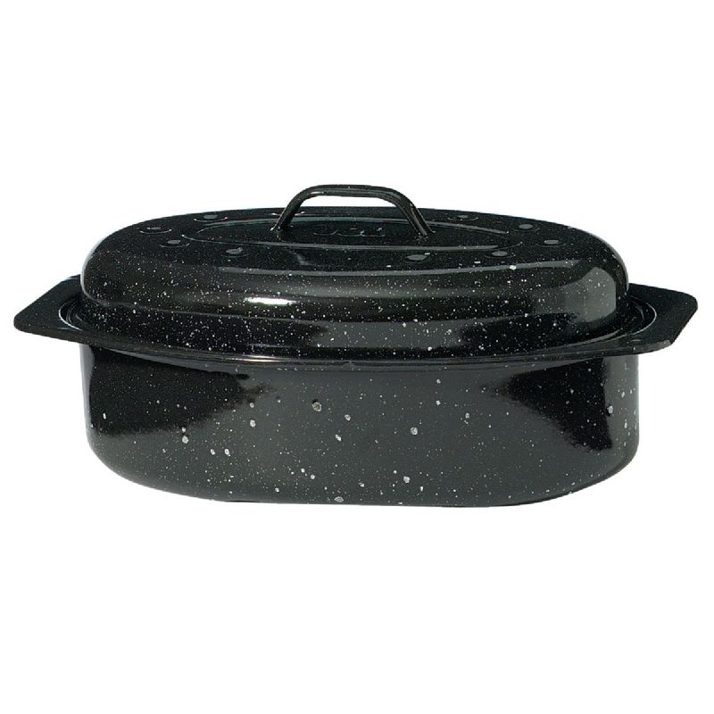 GraniteWare Covered Oval Roaster Pan 5 To 7 Lb Poultry/Roast