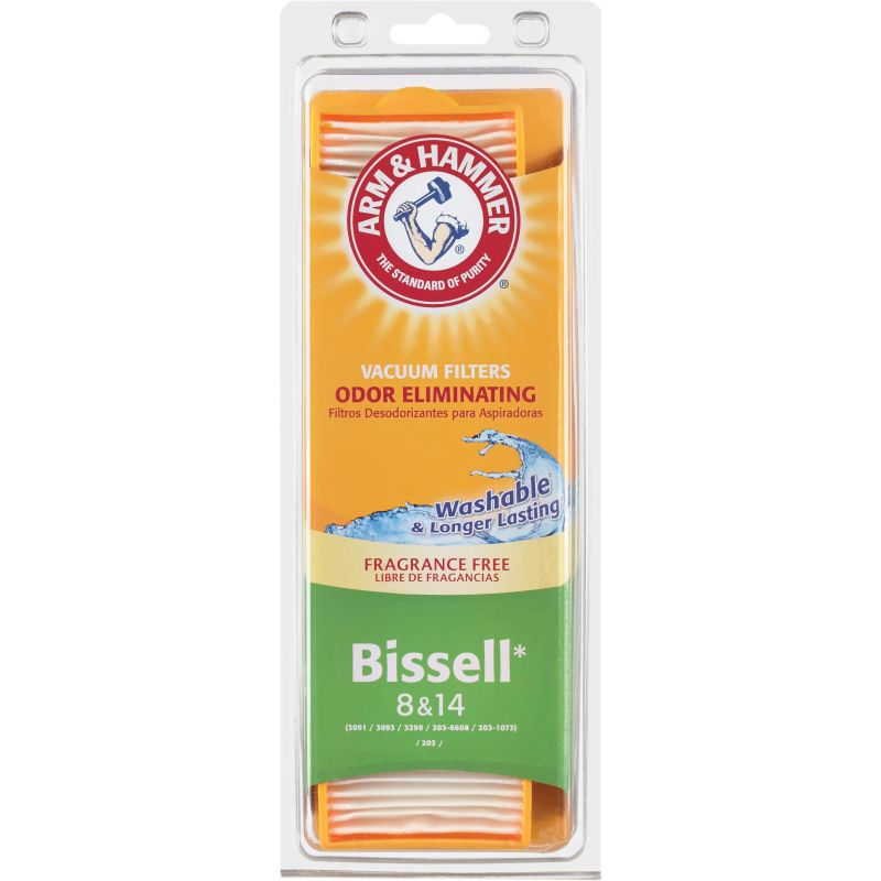 Arm & Hammer Bissell 8/14 Vacuum Filter 2.5 In W. X 1/2 In H X 9.5 In. L