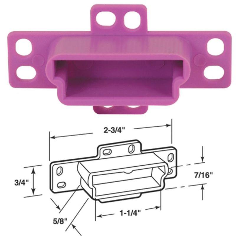 Prime-Line 1-1/4 In. x 1-1/2 In. Track Socket Purple